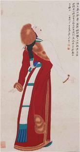 A Chinese Scroll Painting By Zhang Daqian P2018N1817