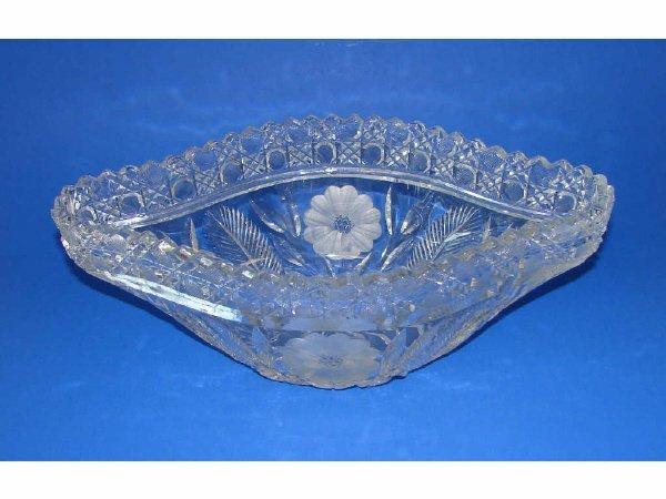 1: German Leaded Crystal Centerpiece Bowl. C. 1930.