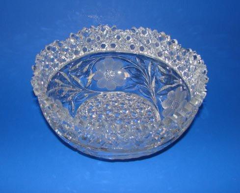 4: German Cut Crystal Fruit Bowl, C 1930 - 50.