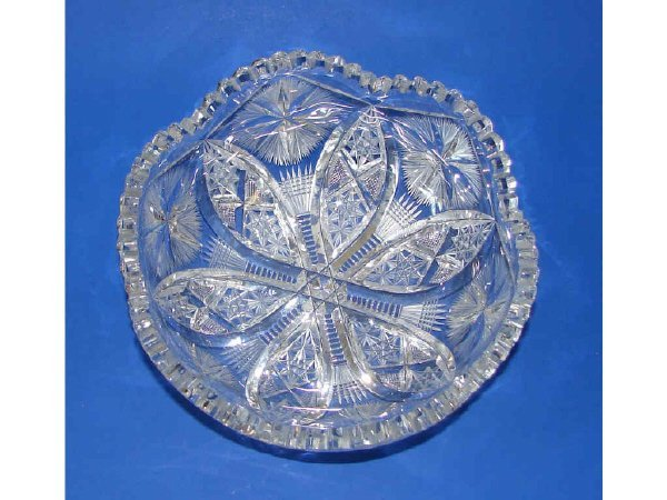 5: American Brilliant Cut Glass Bowl. C. 1875 - 1915.