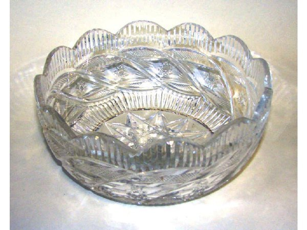 8: Waterford Cut Crystal Fruit Bowl, Ireland, 20th C.