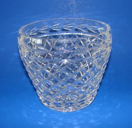 16: Waterford Clear Crystal Flair Vase.