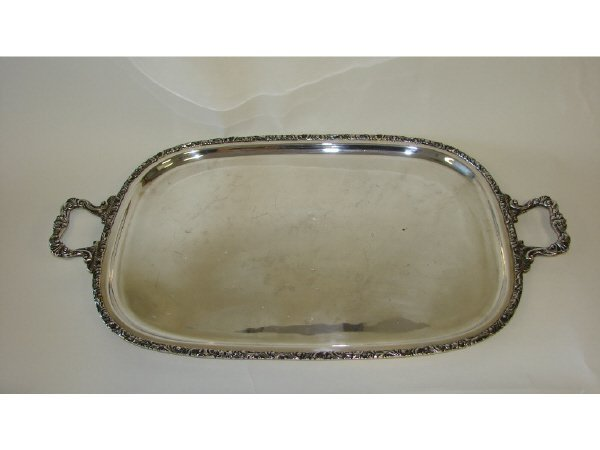 24: American Sterling Silver Large Serving Tray.