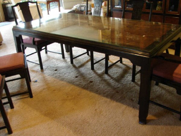 52: Oriental Style Dining Table,  Century Furniture Co