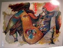 82 Theo Tobiasse lithograph Leda 1985 23125