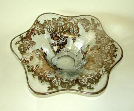 5: Silver Deposit and Glass Fruit Bowl, 20th C.