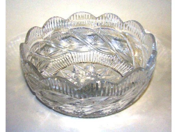 7: Waterford Cut Crystal Fruit Bowl, Ireland, 20th C.