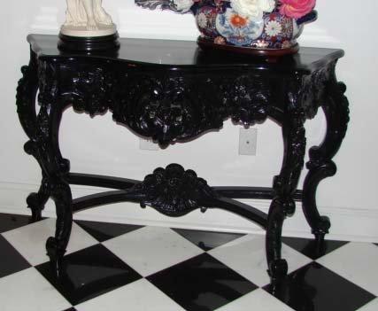 1: Rococo Style Console Table, 20th Century.