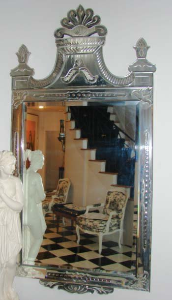 2: Venetian Style Console Mirror, Late 19-early-20C.
