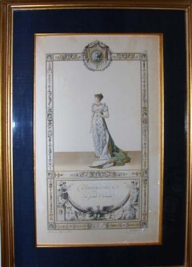 12: Pair of Napoleon and Josephine Etchings, 19th C.
