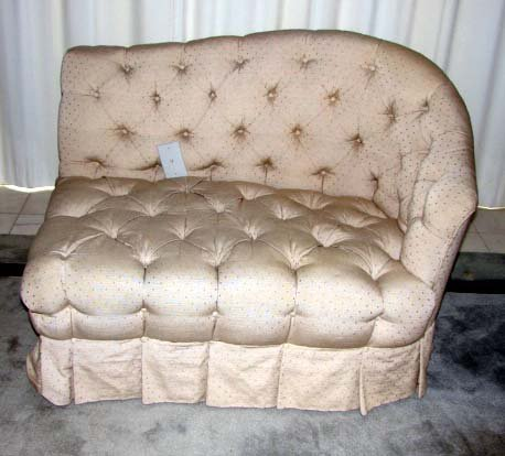 16: Tufted Asymetrical Settee.