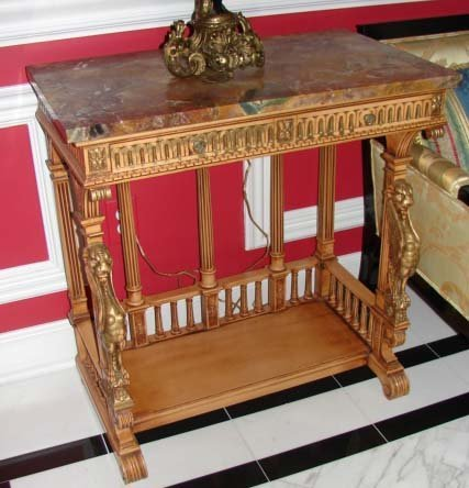 20: Neoclassical Style Console Table, 20th C.