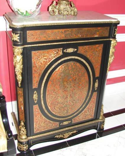 22: Louis Phillip Style Bouille and Ebonized Cabinet.