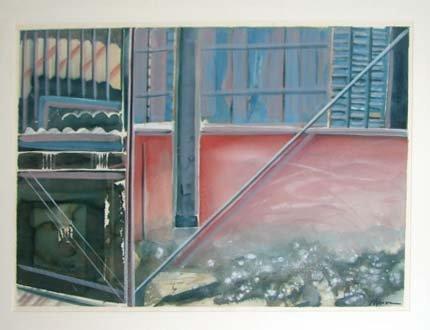 """1003:  Jeffrey Ryerson, """"Seminole Memories"""" watercolor."""