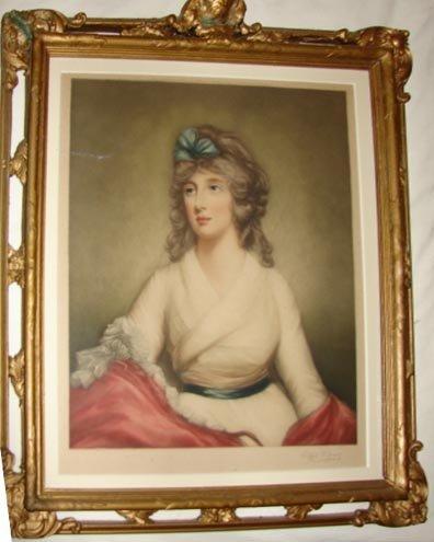 1009:  Mezzotint, Portrait of a Woman. After C. James.
