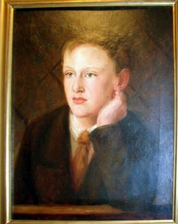 1014:  Oil painting, Portrait of a Young Man. C. 1925.