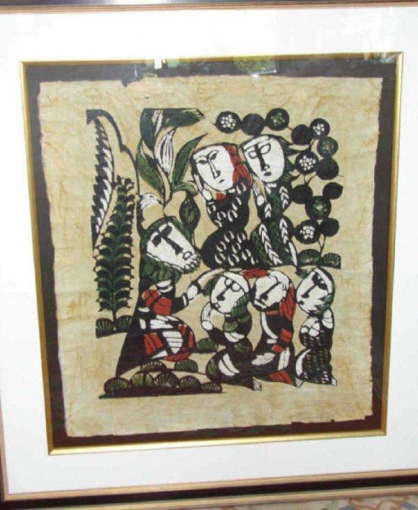 1017:  Sadao Watanabe Color Wooblock, Biblical.