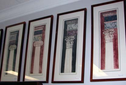 1018: Set of 4 Column etchings by Frances Vella.