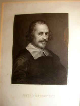 1019:  Steel plate Engraving Pietro de Cortona, C. 1850