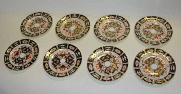 "1048:  Six Royal Crown Derby Plates, Imari # 8211. D-6"""