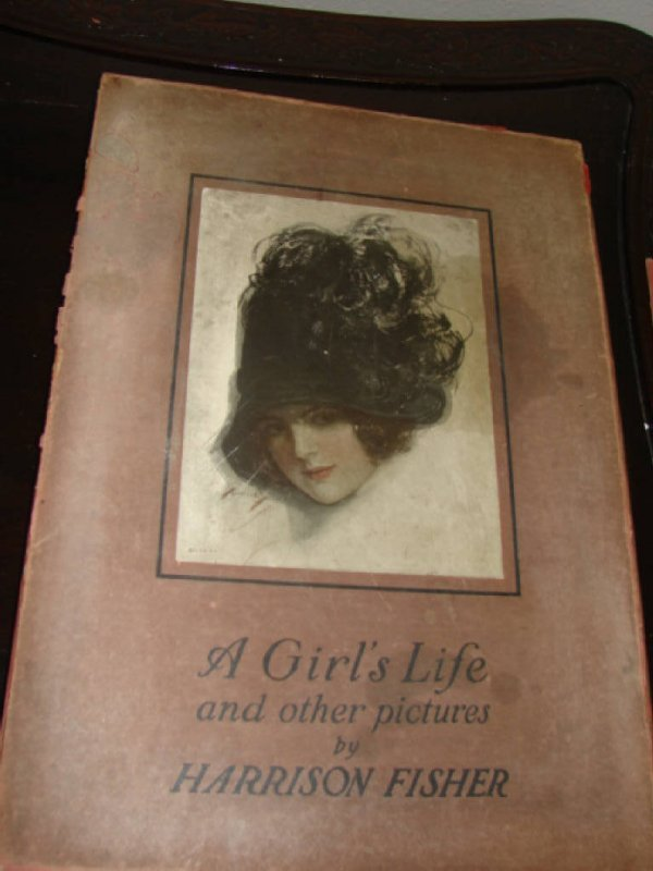 """1010A: Harrison Fisher """"A Girl's Life"""",  book, Publi"""