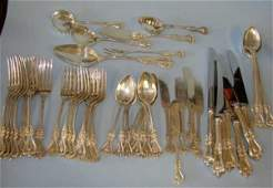 4: 56 Piece Towle Colonial sterling flatware. 60 tr oz+