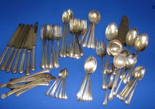 5: (60) piece Towle Chippendale sterling flatware. 60 +