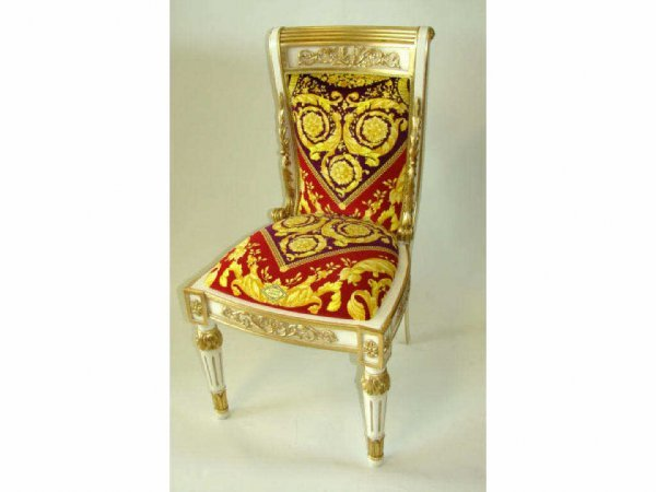101: Set of six (6) Versace dining chairs.