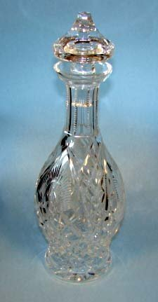 "201: Waterford clear crystal decanter,  H - 13.5""."