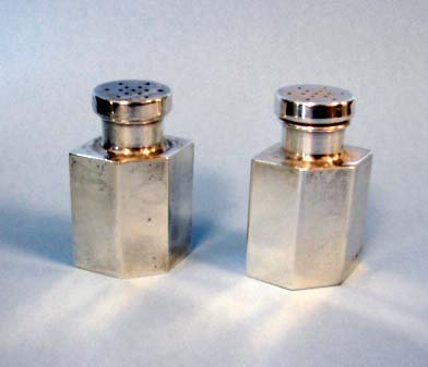 210: Pair (2) Tiffany & Co. sterling shakers.