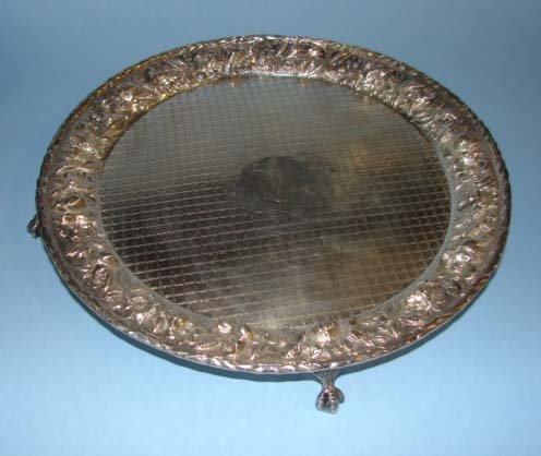 211: S. Kirk & Son, Inc. Sterling tray. Repousse.