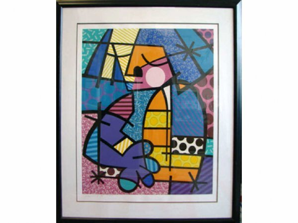 "214: Romero Britto, silkscreen ""Jennifer"", 70/300."