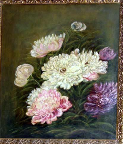 219: Oil painting, Floral Still Life, American School.