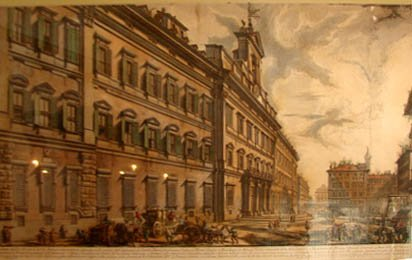 "220: Engraving, ""Montecitorio Palace in Rome"", Piranesi"
