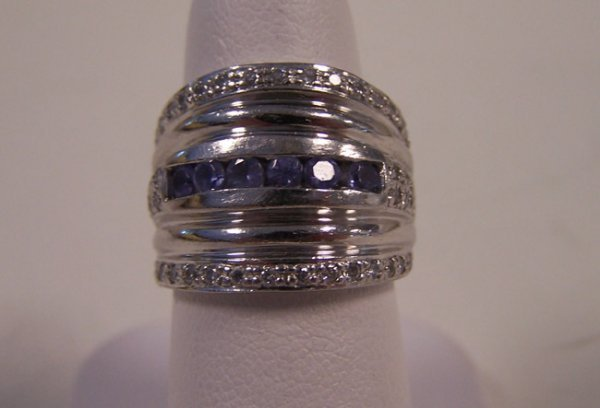 5: Ladies Platinum & Tanzanite Fashion Ring.
