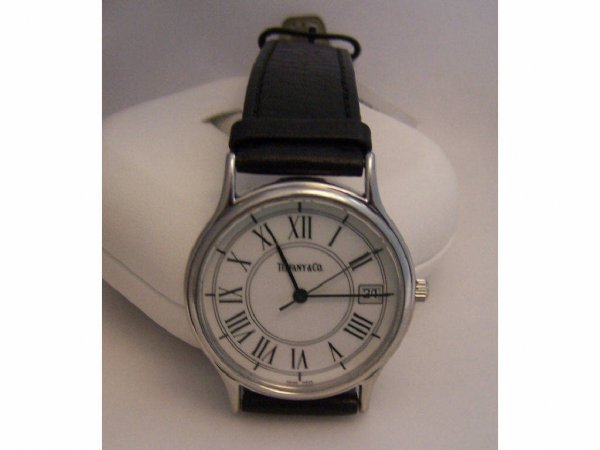 9: Tiffany & Co. Stainless Steel Gentleman's Watch.