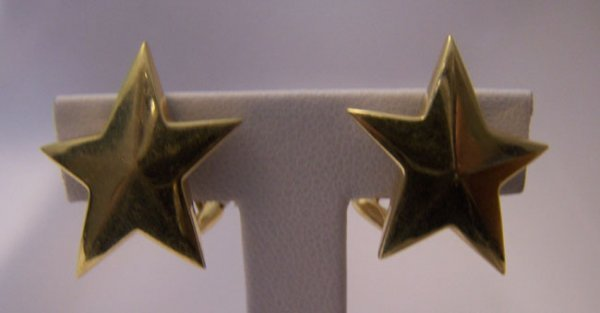 10: 18K Y Gold Tiffany & Co. Star Earrings.