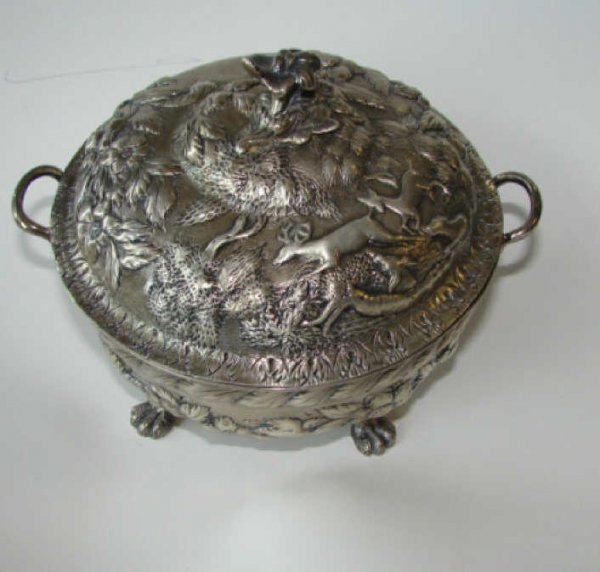 18: Sterling Silver S. Kirk and Son Butter Dish.