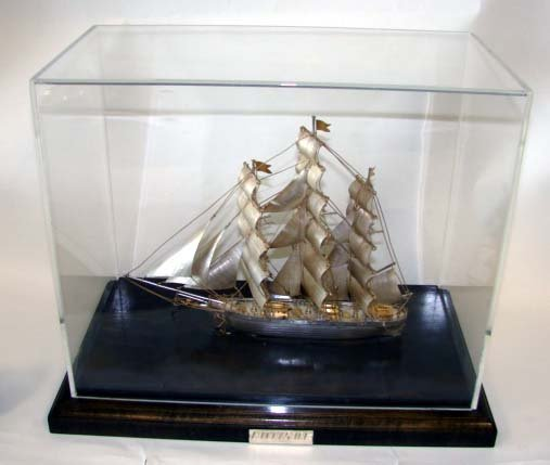 """90: Sterling Silver Ship's Model  """"Cutty Sark"""". - 2"""