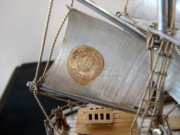 """90: Sterling Silver Ship's Model  """"Cutty Sark"""". - 3"""