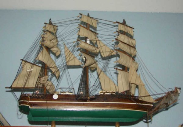 "97: Ship Model, Clipper ship ""Young America""  Nautical."