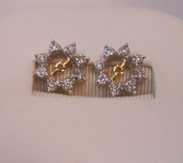 18: 14K Yellow Gold Diamond Earring Jackets.