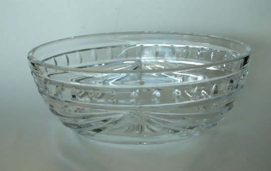 3: Waterford Clear Crystal Oblong Bowl.