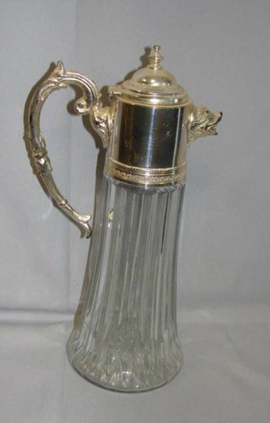 15: Italian Silver Plate Mounted Pitcher. 20th C.