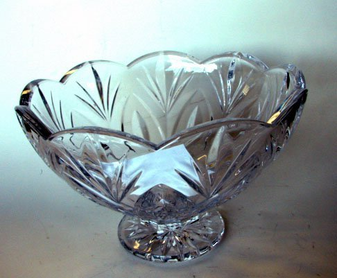 16: Waterford Clear Crystal Footed Bowl.