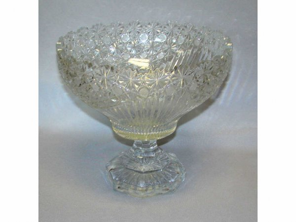 17: American Cut Glass Punch Bowl.
