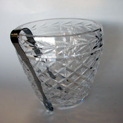20: Waterford Clear Crystal Ice Bucket (as is)