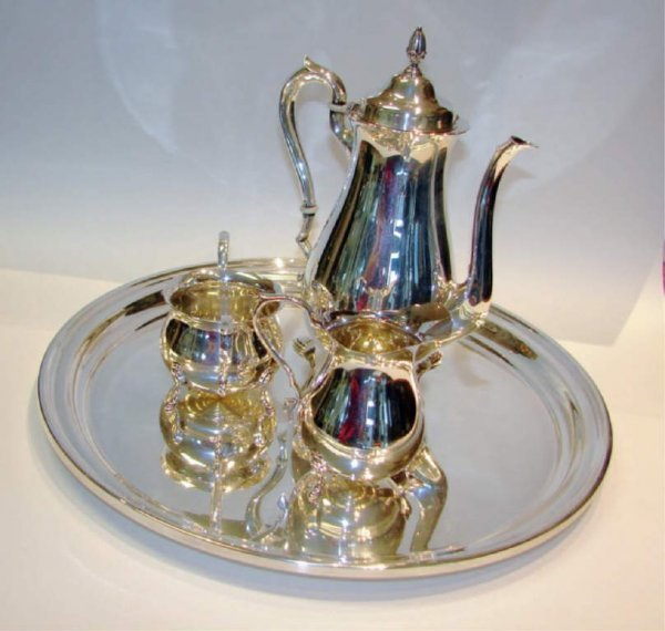 2: Four Piece Sterling Silver Coffee Service, 65 tr.