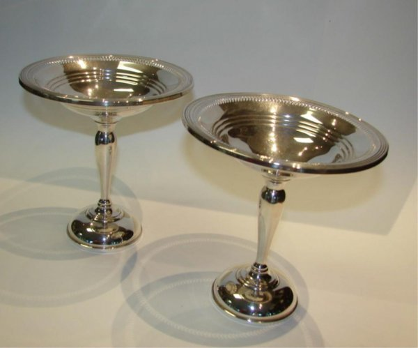 3: Pair (2) Sterling Silver Compotes.