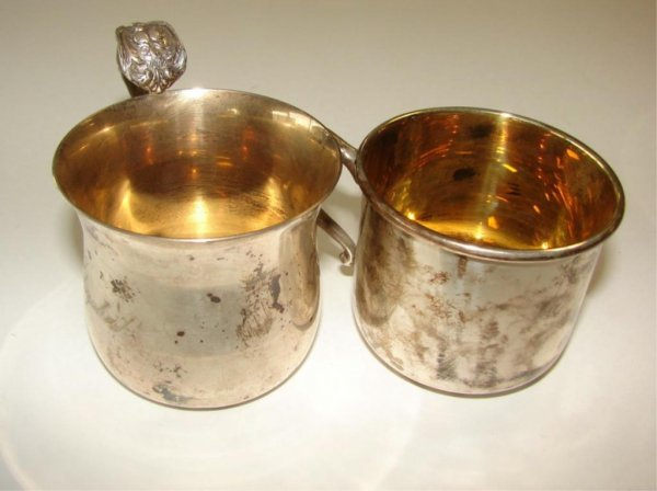 10: Two (2) Sterling Silver Baby Cups.